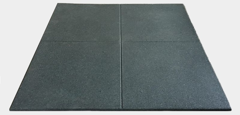 Fitness rubber floor with crossed top design